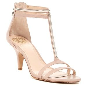 Vince Camuto Mitzy T-Strap Mid Heel Sandal